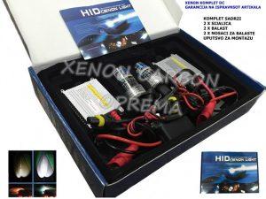 H7 XENON KOMPLET DC TEHNOLOGIJA