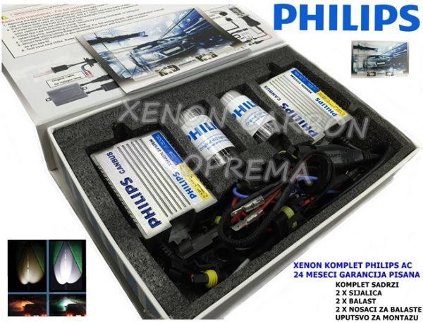 H1 PHILIPS XENON KOMPLET AC TEHNOLOGIJA KAN BUS