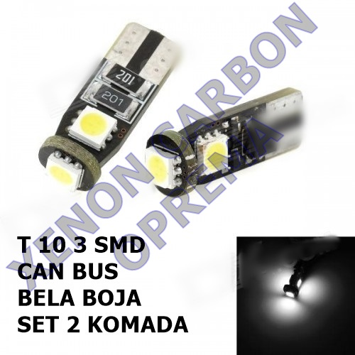 T10 CAN BUS LED SIJALICE 3SMD