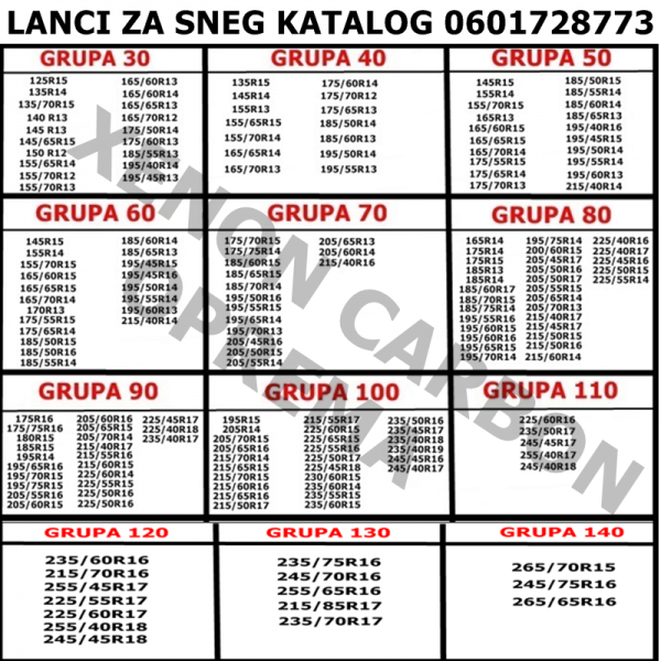 LANCI ZA SNEG GRUPA 30