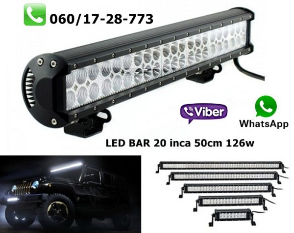 LED BAR 20'' 50CM 126W RADNI BAR WORKING LIGHT RADNO SVETLO