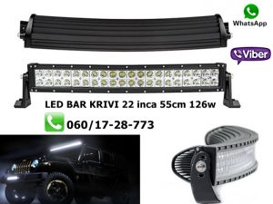 LED BAR KRIVI 22'' 55CM 126W RADNI BAR WORKING LIGHT RADNO SVETLO