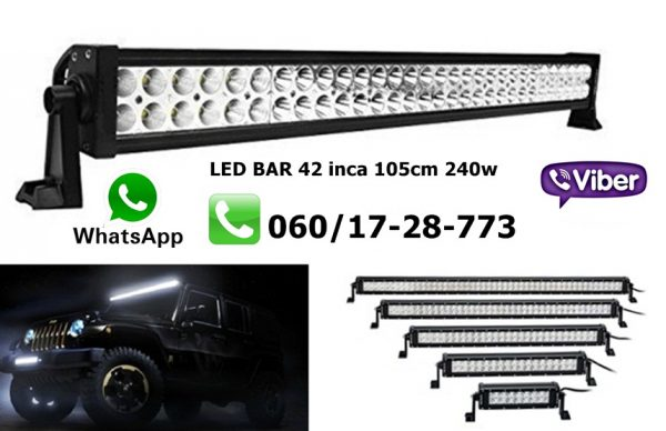 LED BAR 42'' 105CM 240W RADNI BAR WORKING LIGHT RADNO SVETLO