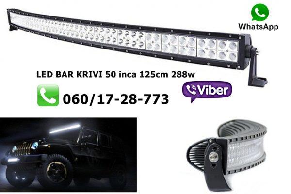 LED BAR KRIVI 50'' 125CM 288W RADNI BAR WORKING LIGHT RADNO SVETLO