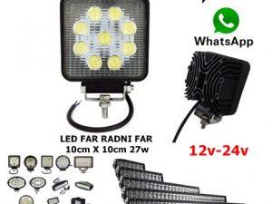 LED FAR 10CM X 10CM 27W RADNI FAR WORKING LIGHT RADNO SVETLO