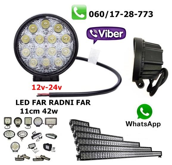 LED FAR 11CM 42W RADNI FAR WORKING LIGHT RADNO SVETLO