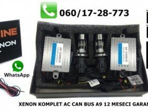 H4 BI XENON KOMPLET AC CAN BUS A9 TEHNOLOGIJA