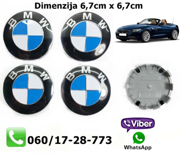 BMW CEPOVI ZA FELNE SET 4 KOMADA 6,7CM X 6,7CM