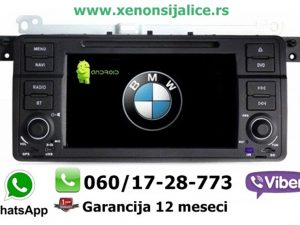 BMW 3 E46 ANDROID MULTIMEDIJA NAVIGACIJA TOUCH SCREEN 7 INCA