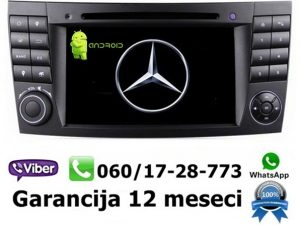 MERCEDES E KLASA MULTIMEDIJA ANDROID NAVIGACIJA TOUCH SCREEN 7 INCA