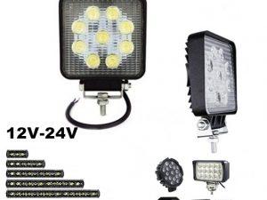 LED FAR 10CM X 10CM 27W RADNI FAR WORKING LIGHT RADNO SVETLO SLIM