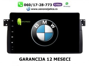 BMW 3 E46 ANDROID MULTIMEDIJA NAVIGACIJA TOUCH SCREEN 10 INCA