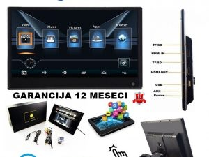 MONITOR U NASLONU ZA GLAVU 12 INCA SET DVD ZA DECU ANDROID TOUCH SCREEN