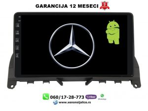 MERCEDES C KLASA W204 MULTIMEDIJA ANDROID NAVIGACIJA TOUCH SCREEN 10 INCA