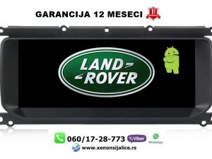 LAND ROVER RANGE ROVER EVOQUE MULTIMEDIJA ANDROID NAVIGACIJA TOUCH SCREEN 10 INCA